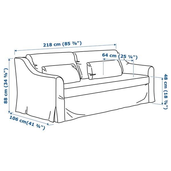 FÄRLÖV 3-seat sofa, Flodafors grey