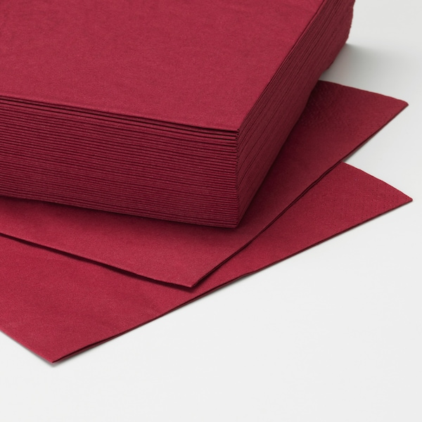 FANTASTISK paper napkin dark red 40 cm 40 cm 50 pack