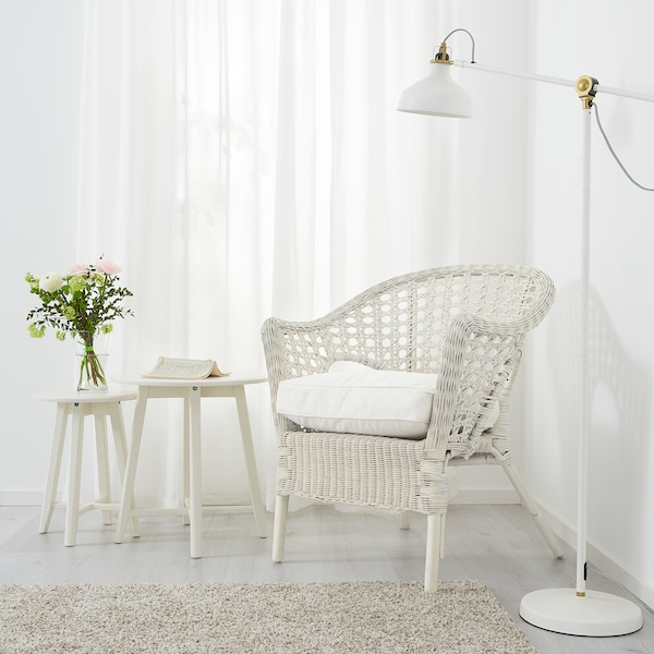 FINNTORP / DJUPVIK armchair with cushion white 71 cm 64 cm 85 cm