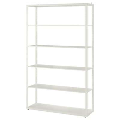 FJÄLKINGE Shelving unit, white, 118x193 cm