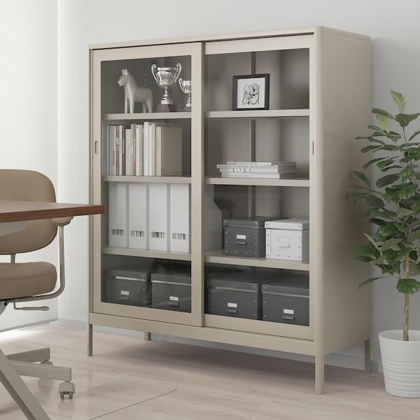 FJÄLLA Storage box with lid, dark grey, 25x36x20 cm