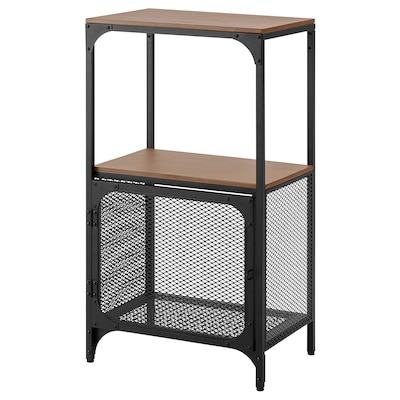 FJÄLLBO Shelving unit, black, 51x95 cm