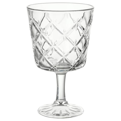 FLIMRA goblet clear glass/patterned 13.7 cm 23 cl