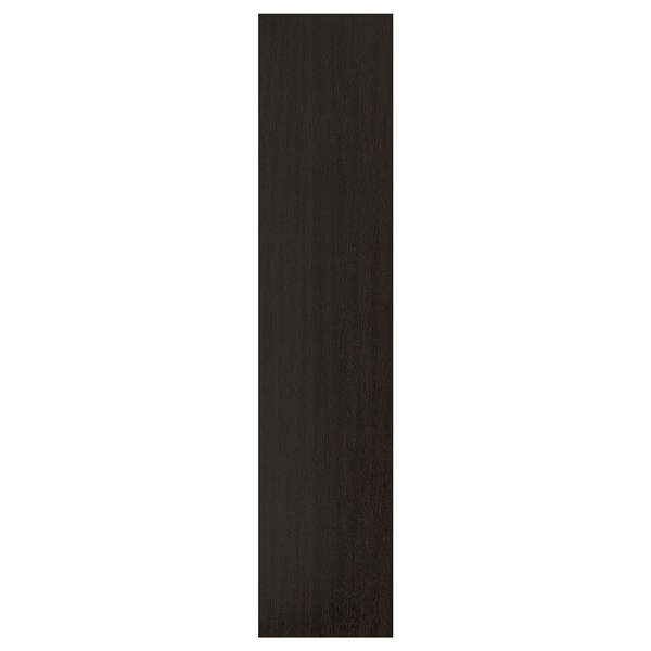 FORSAND Door, black-brown stained ash effect, 50x229 cm