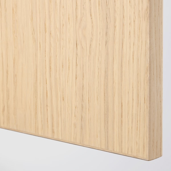 FORSAND Door with hinges, white stained oak effect, 50x195 cm