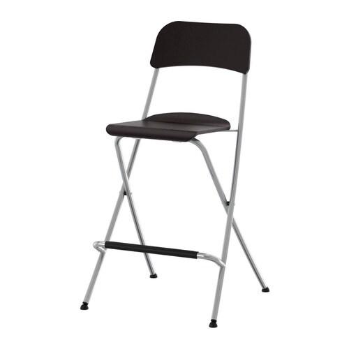 Franklin Bar Stool With Backrest Foldable Ikea