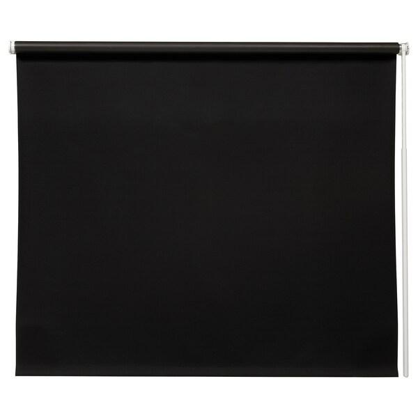 FRIDANS Block-out roller blind, black, 160x195 cm