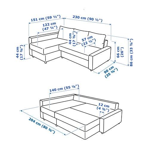 Remarkable New Arrival C4480 39F3D Ikea Friheten Size Casacandiles Com Alphanode Cool Chair Designs And Ideas Alphanodeonline
