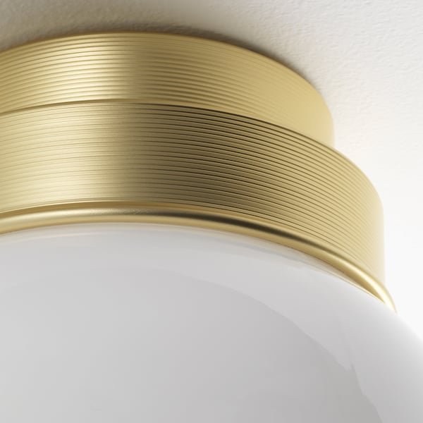 FRIHULT ceiling/wall lamp brass-colour 5.3 W 19 cm 16 cm