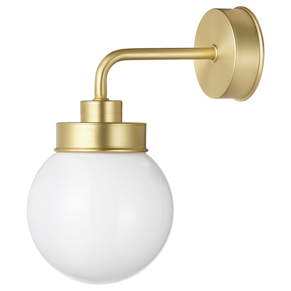 FRIHULT wall lamp brass-colour 5.3 W 23.0 cm 26.5 cm 14 cm