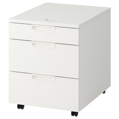 GALANT Drawer unit on castors, white, 45x55 cm
