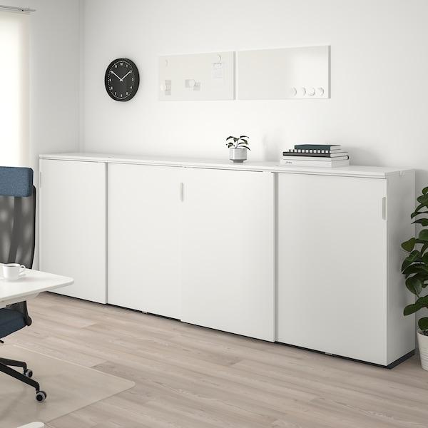 GALANT Storage combination w sliding doors, white, 320x120 cm