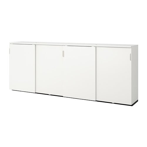 Ikea Hoekbureau Galant.Galant Storage Combination W Sliding Doors White