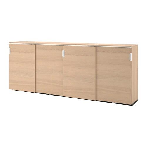 Kit Per Ante Scorrevoli Ikea.Galant Storage Combination W Sliding Doors White Stained Oak Veneer