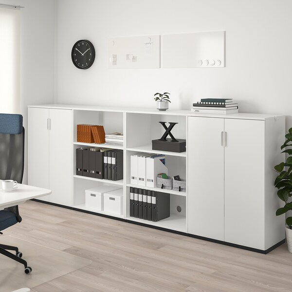 GALANT Storage combination, white, 320x120 cm