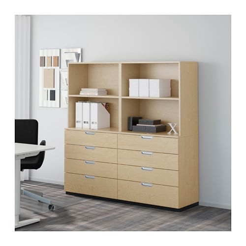 Ikea Galant galant storage combination with drawers birch veneer ikea