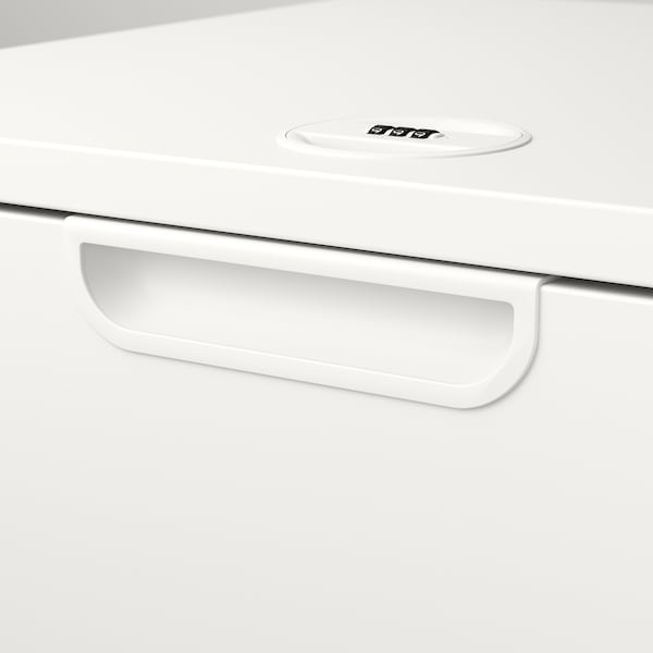 GALANT Storage combination with filing, white, 102x120 cm
