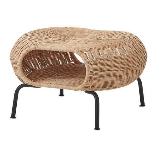 Gamlehult Footstool With Storage Rattan