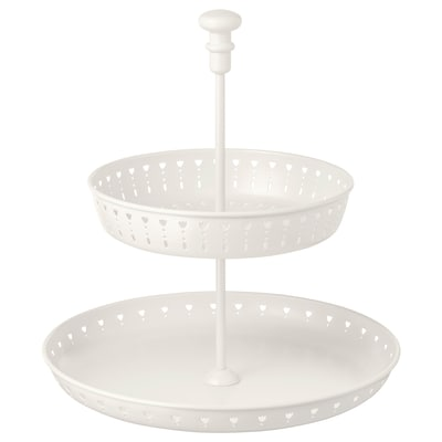 GARNERA serving stand, two tiers white 33 cm 29 cm