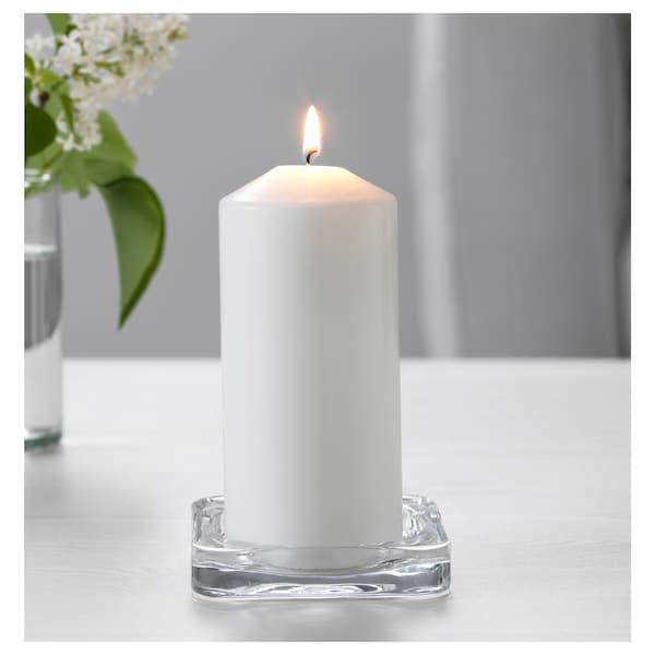 GLASIG candle dish clear glass 10 cm 10 cm 1.5 cm