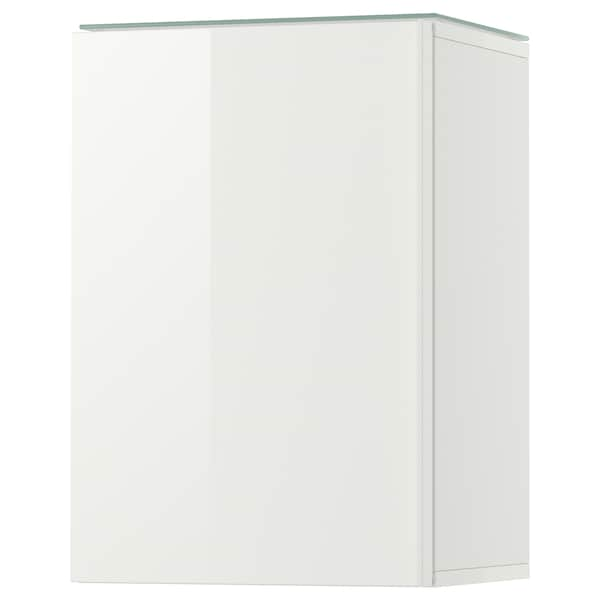 GODMORGON wall cabinet with 1 door high-gloss white 40 cm 32 cm 58 cm