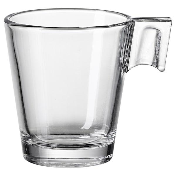 GOTTFINNANDE espresso cup clear glass 6 cm 8 cl