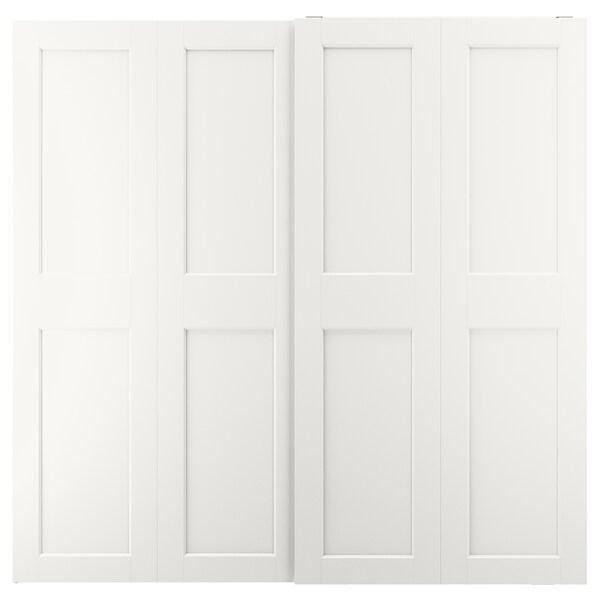 GRIMO Pair of sliding doors, white, 200x201 cm