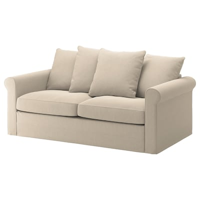 GRÖNLID 2-seat sofa-bed, Sporda natural