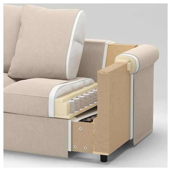 GRÖNLID 3-seat sofa, Ljungen light red