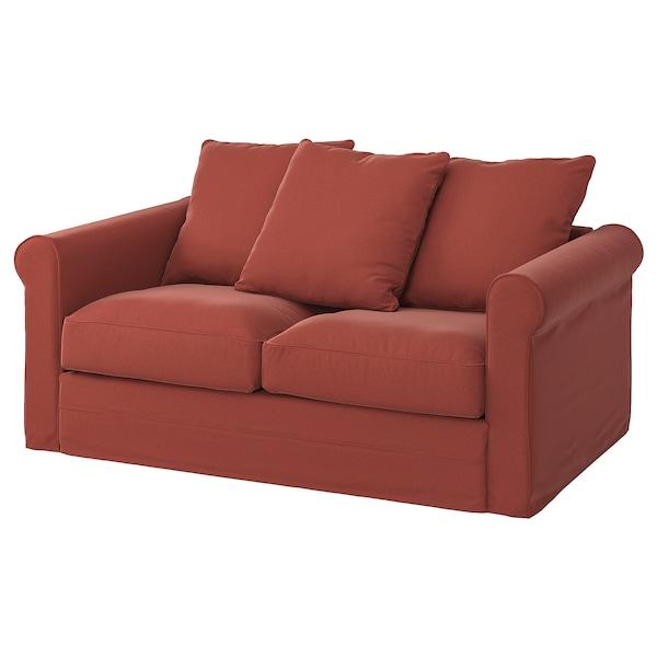 GRÖNLID Cover for 2-seat sofa, Ljungen light red