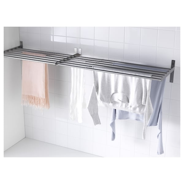 GRUNDTAL drying rack, wall stainless steel 67 cm 120 cm 40 cm 20 cm 20 kg