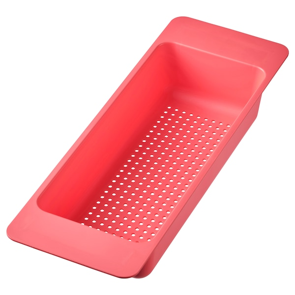 GRUNDVATTNET Colander, light red