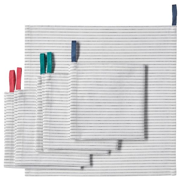 GRUPPERA napkin white/black 33 cm 33 cm 6 pack