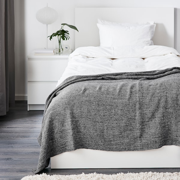GURLI throw grey/black 180 cm 120 cm