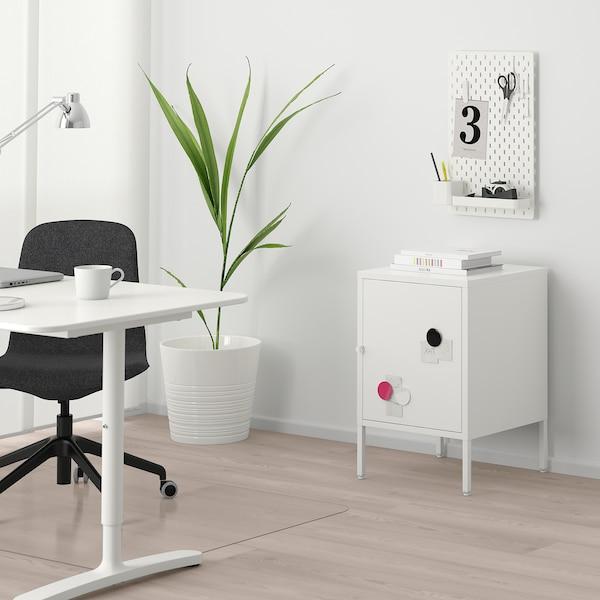 HÄLLAN Storage combination with doors, white, 45x47x67 cm