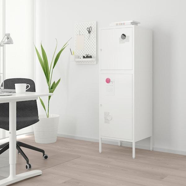 HÄLLAN Storage combination with doors, white, 45x47x142 cm