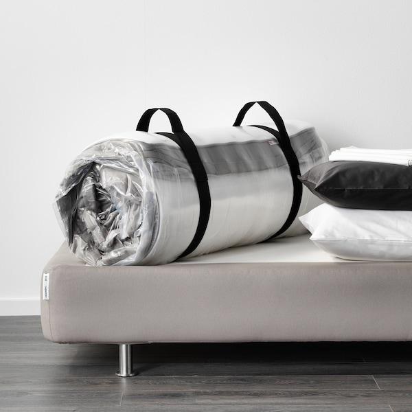 HAMARVIK Sprung mattress, firm/dark beige, 90x200 cm