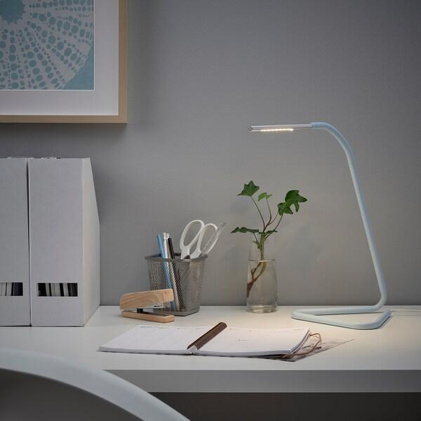HÅRTE LED work lamp, light blue/silver-colour
