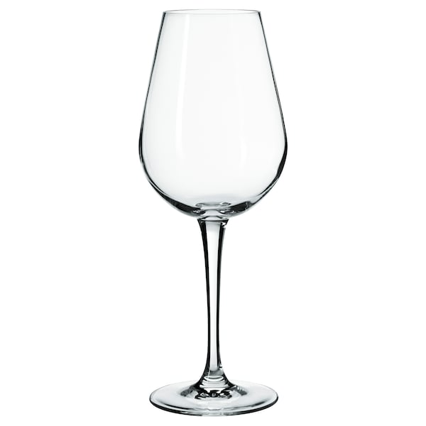 HEDERLIG white wine glass clear glass 22 cm 35 cl