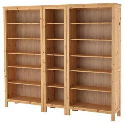 HEMNES bookcase light brown 229 cm 37 cm 197 cm