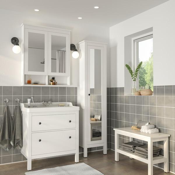 HEMNES / RÄTTVIKEN Bathroom furniture, set of 5, white ...