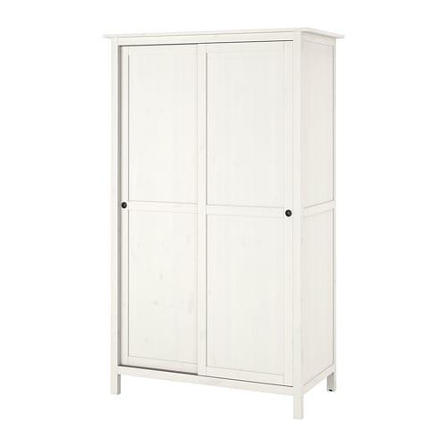 Armadio Ikea Pax 6 Ante.Hemnes Wardrobe With 2 Sliding Doors White Stain
