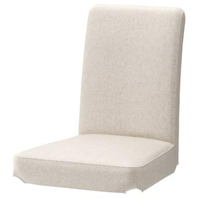HENRIKSDAL Chair cover, Linneryd natural