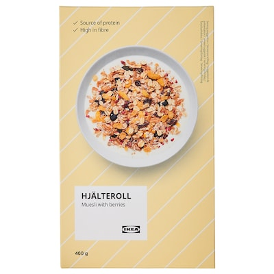 HJÄLTEROLL Muesli, with dried berries, 400 g