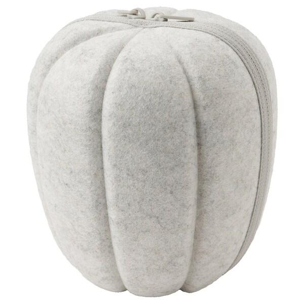 HÖSTKVÄLL Decoration pumpkin, felt grey
