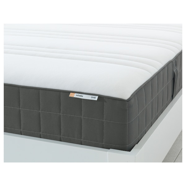 HÖVÅG Pocket sprung mattress, firm/dark grey, 140x190 cm