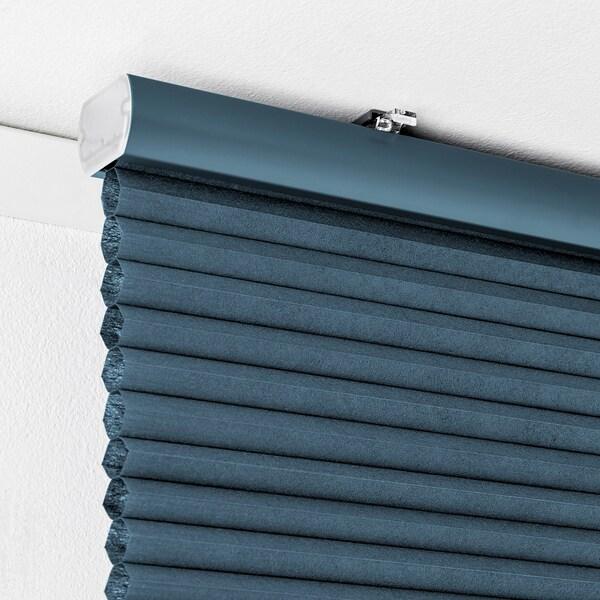 HOPPVALS Room darkening cellular blind, blue, 60x155 cm