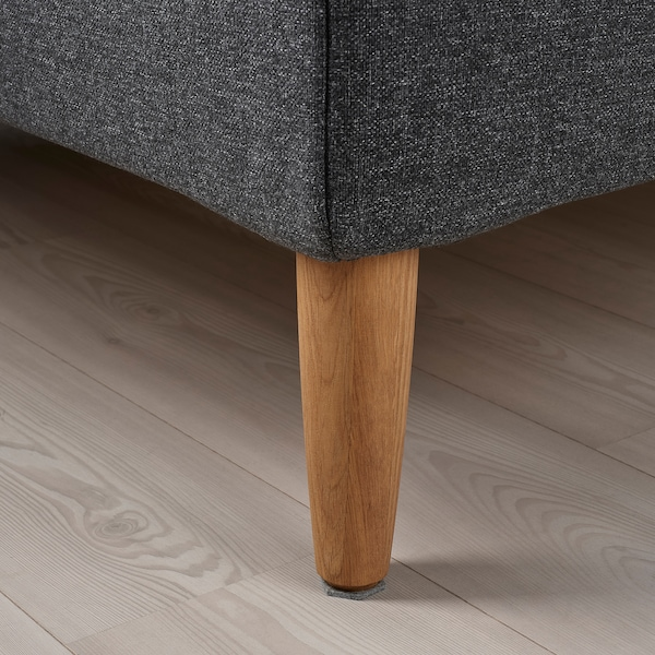 IDANÄS Upholstered bed frame, Gunnared dark grey, 180x200 cm