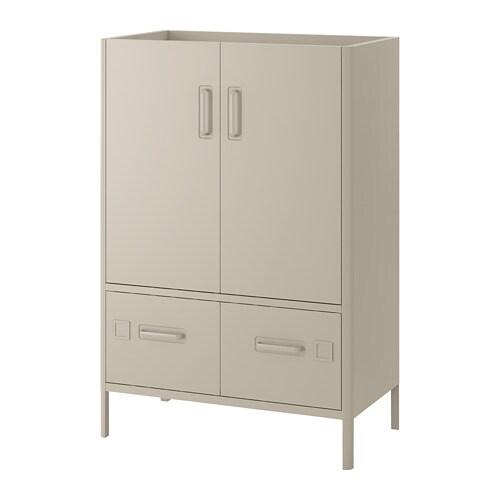 Idåsen Cabinet With Smart Lock Beige