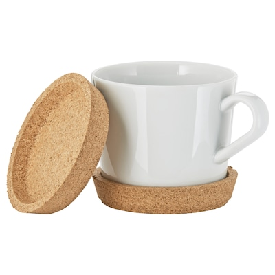 IKEA 365+ coaster cork 9 cm 2 pack